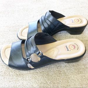 NIB Earth Spirit Leather Comfort Open Toe Sandal